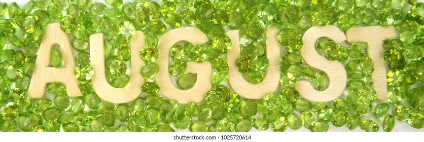 Beautiful peridot gemstone august birthstone