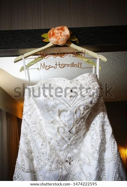 Beautiful Personalized Indian Bridal White Dress Stock Photo Edit