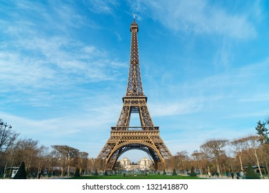 Beautiful photo of the Eiffel tower in Paris, France