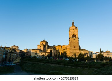 Beautiful photo of historical cathedral at Guadix, Spain