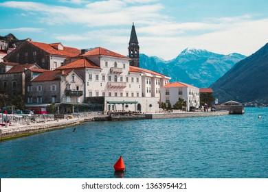 Beautiful photo of Perast town in Montenegro