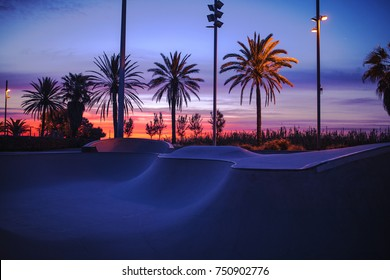 Beautiful photo of skate park.