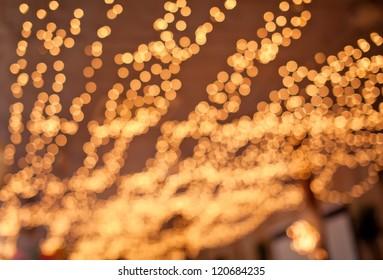 Beautiful photo of yellow bokeh backgroud