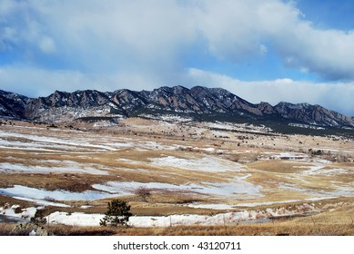 A beautiful photograph capturing the rocky mountains in colorful Colorado.