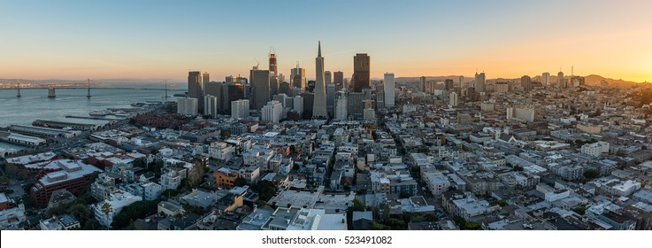 Beautiful Photography of Downtown San Francisco sunset