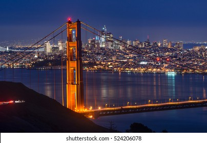 Beautiful photography Golden Gate Bridge and Downtown San Francisco