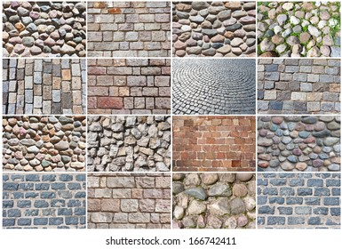 Beautiful photos of old natural stone pavement background