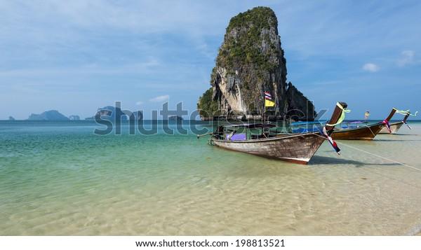 Beautiful Phra Nang beach on Railay. Krabi, Thailand
