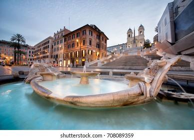 Beautiful Piazza di Spagna in Rome
