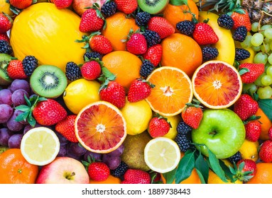 beautiful picture with all kinds and fruits - Shutterstock ID 1889738443