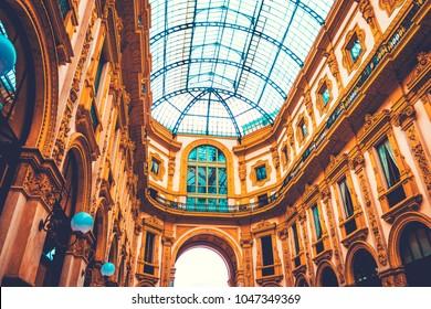 beautiful picture of Galleria Vittorio Emanuele II at Milan, Italy