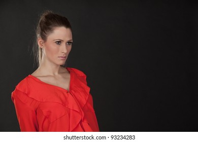 Beautiful picture of model on dark background