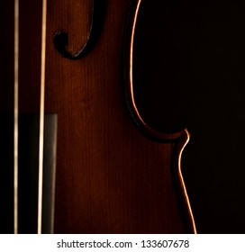 Beautiful picture of part of violin