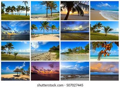 Beautiful picturesque African coast Diani in Kenya
