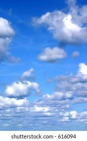 A beautiful picturesque sky.
