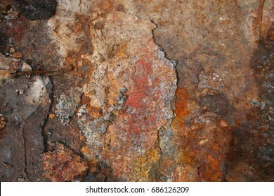 Beautiful picturesque texture of rust