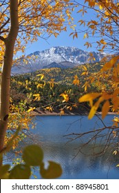 Beautiful Pikes Peak at Crystal Reservoir 100