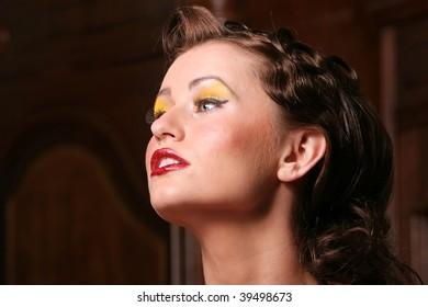 Beautiful pin up girl headshot