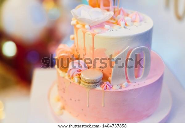Pleasing Beautiful Pink 10Th Birthday Cake Flamingo Stock Photo Edit Now Funny Birthday Cards Online Inifodamsfinfo