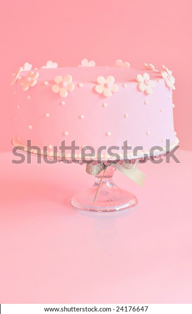Sensational Beautiful Pink Birthday Cake Stock Photo Edit Now 24176647 Funny Birthday Cards Online Sheoxdamsfinfo