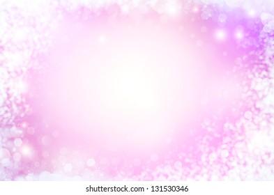 Beautiful pink Bokeh frame