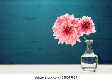 Flowers in a glass vase photography