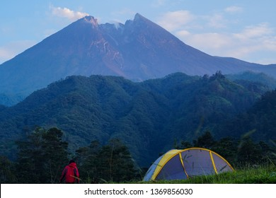 Beautiful place to camp on the slopes of Mount Merapi