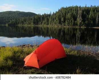 Beautiful place to spend the night. Sunshine Coast Trail in British Columbia, Canada