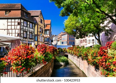 beautiful places of France - colorful Colmar town in Alsace region