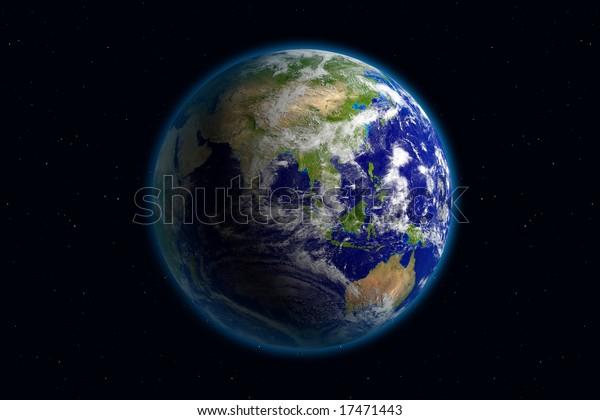 Beautiful Planet Earth. Viewing Asia.