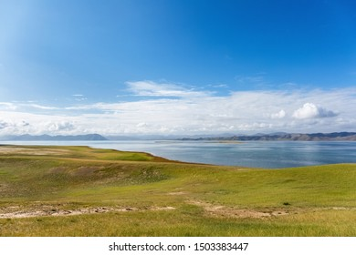 beautiful plateau lake landscape in three river sources core region,maduo county, qinghai province, China