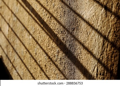 beautiful play of shadow and wall art forming a great abstract
