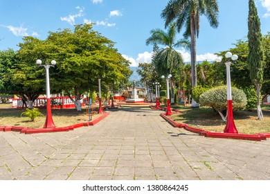 Beautiful plaza in Tariba town, north of San Cristobal city, in Venezuela.