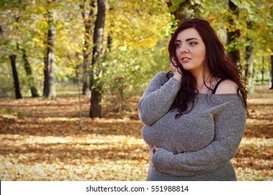 Beautiful plus size girl