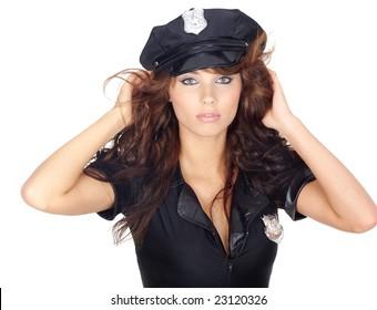 beautiful police girl