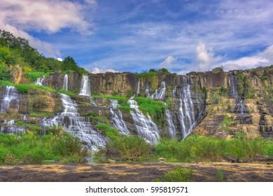 Beautiful of Pongour waterfall, Viet Nam