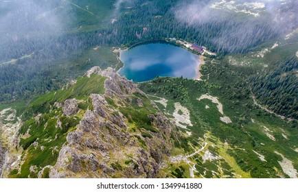 Beautiful Poprad lake in Slovakia in Europe