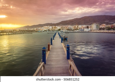 The beautiful port of the town of Adra to be in the province Almeria, Spain