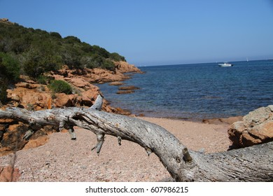 Beautiful Porto Novo beach in South of Corse
