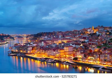 Beautiful Porto Old Town at twilight, Portugal
