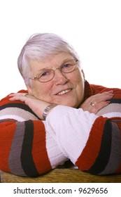 beautiful portrait of a elderly woman with blue eyes.