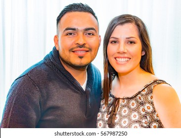 Beautiful Portrait of Happy Hispanic Couple