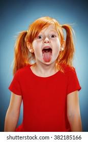 Beautiful portrait of a happy little girl