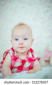 beautiful portrait of Incredible and charming small baby