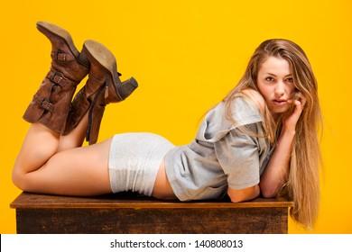 Beautiful portrait of sensual young woman