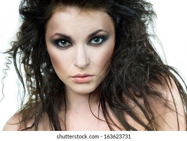 Beautiful portrait of young woman