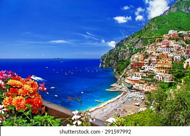 beautiful Positano. Coast of Amalfi, Italy