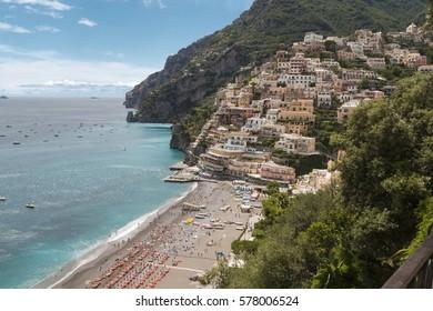 The beautiful Positano on the italian Costiera Amalfitana