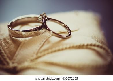 beautiful precious marriage rings. PROMISE, TRUSTINESS, FUTURE, FAMILY CONCEPT