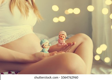 beautiful pregnant woman at home